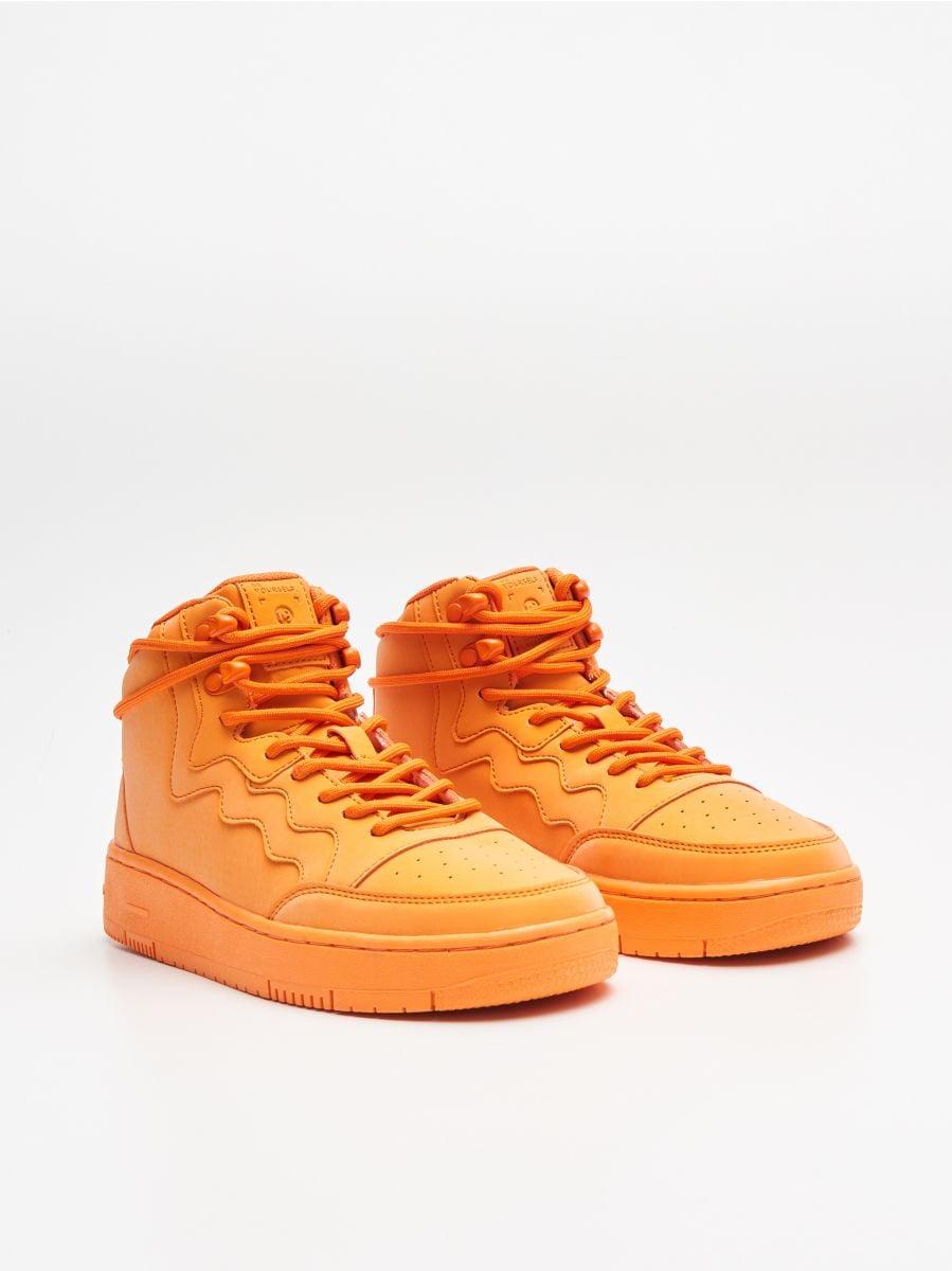 Pantofi Sneakers peste gleznă - ORANJ - WE874-22X - Cropp - 3