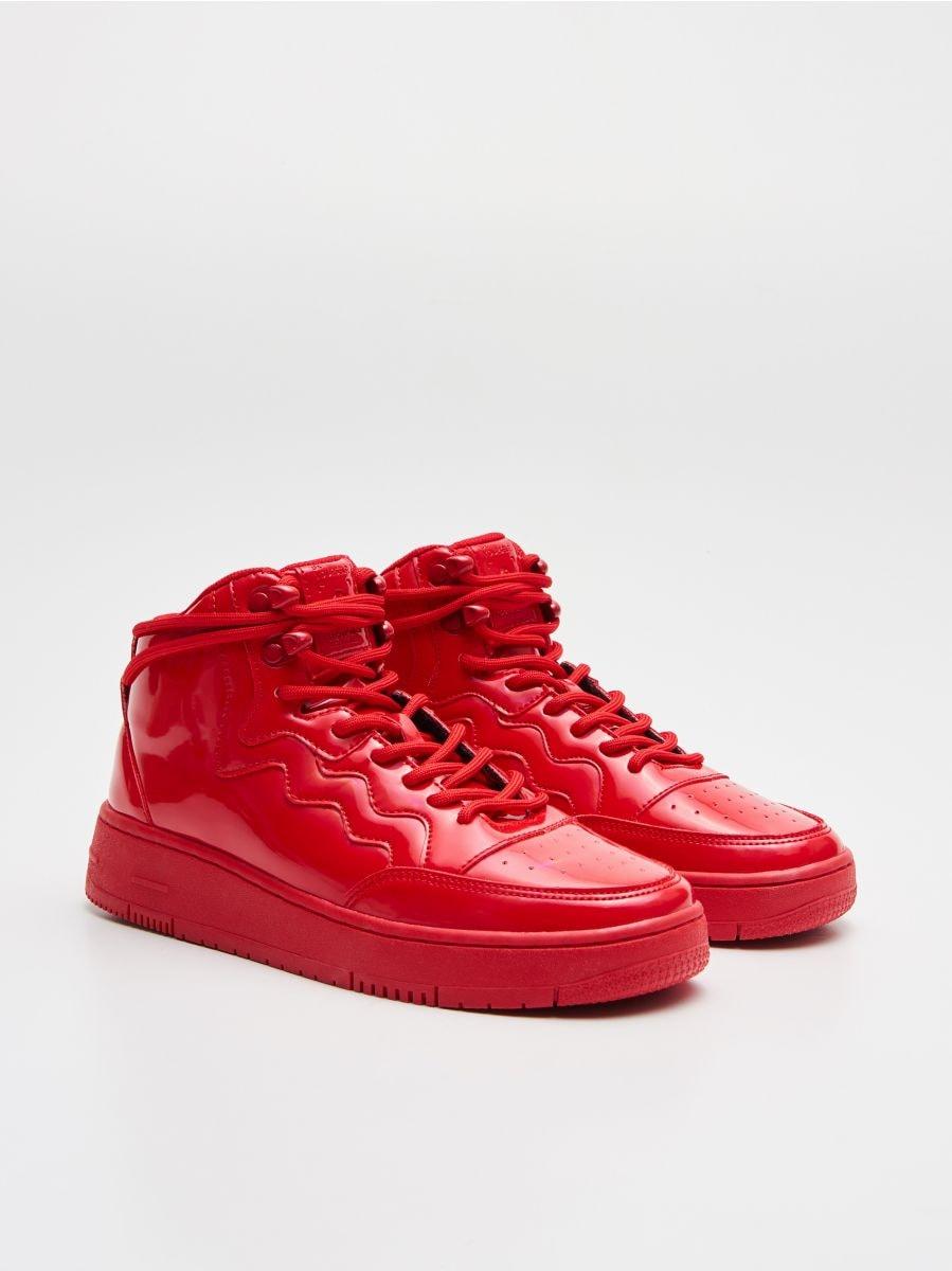 Pantofi Sneakers peste gleznă - ROȘU - WE874-33X - Cropp - 3