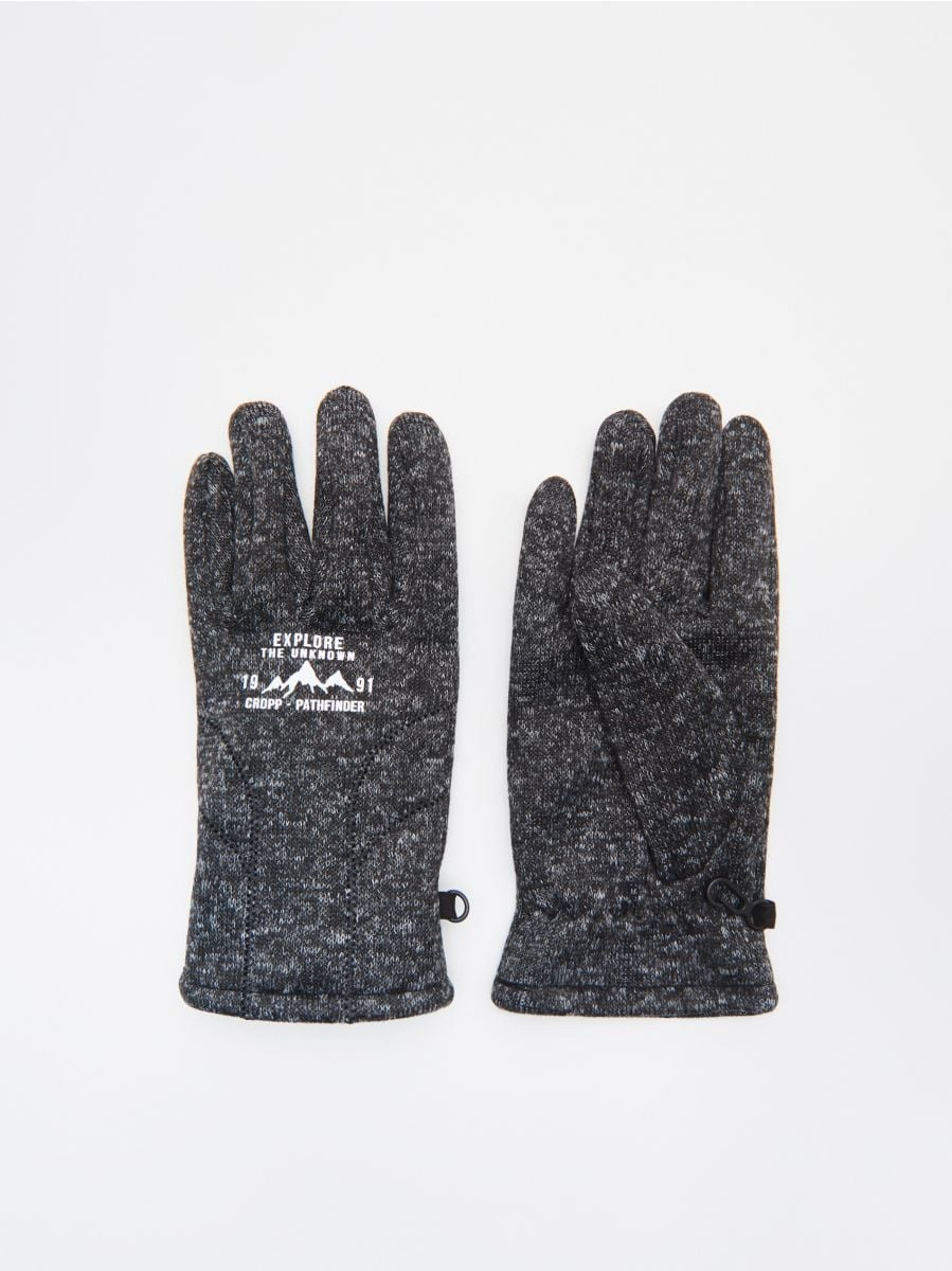 Mănuși - GRI - WK734-90X - Cropp - 1