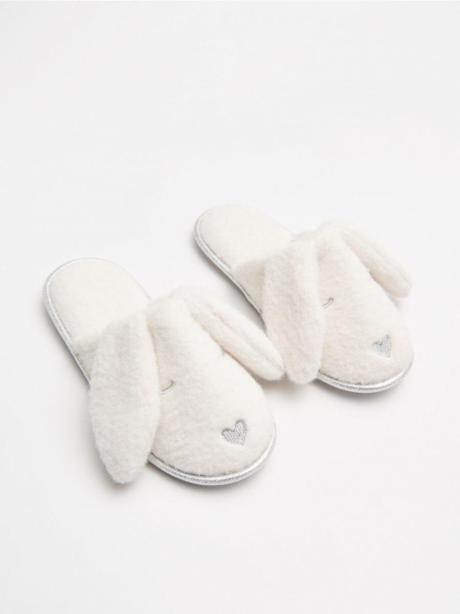 Papuci de casă iepurași - IVORY - WN370-01X - Cropp - 1