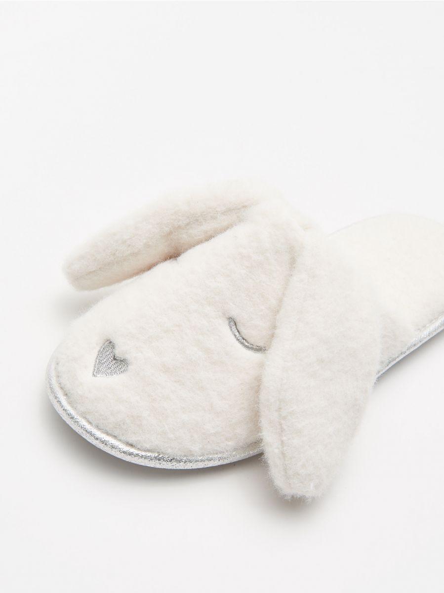 Papuci de casă iepurași - IVORY - WN370-01X - Cropp - 2