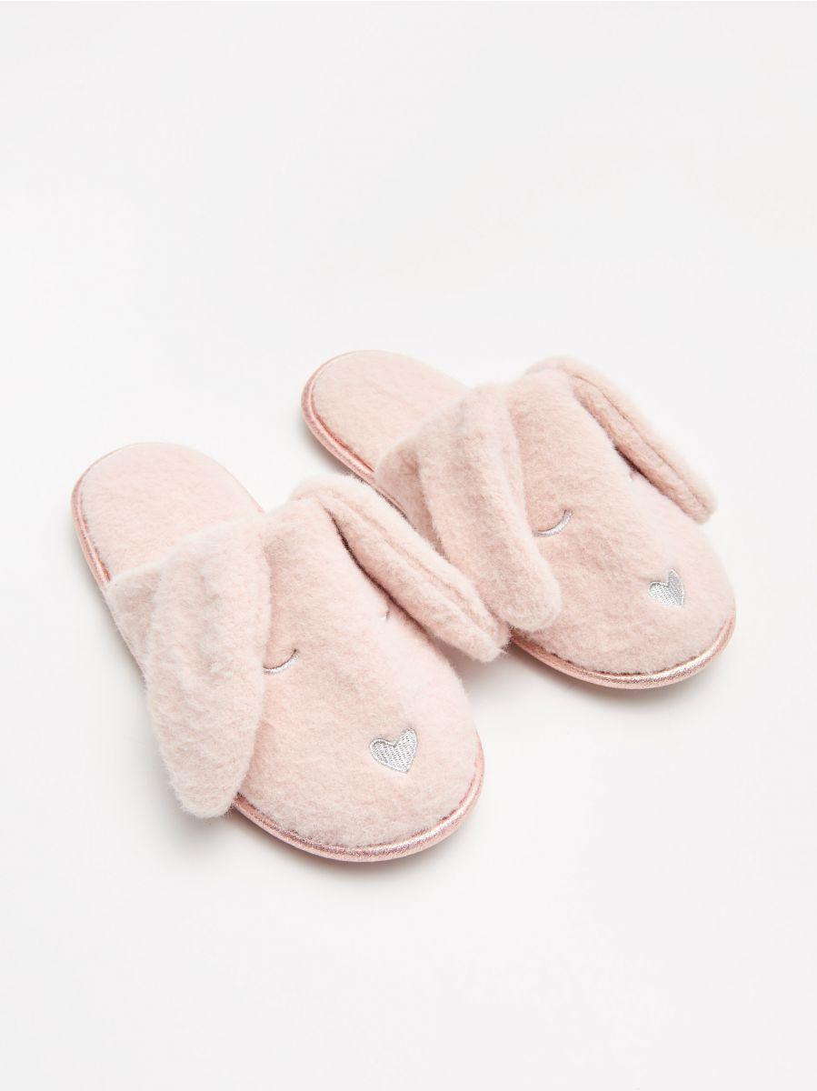 Papuci de casă iepurași - BEJ - WN370-08X - Cropp - 1