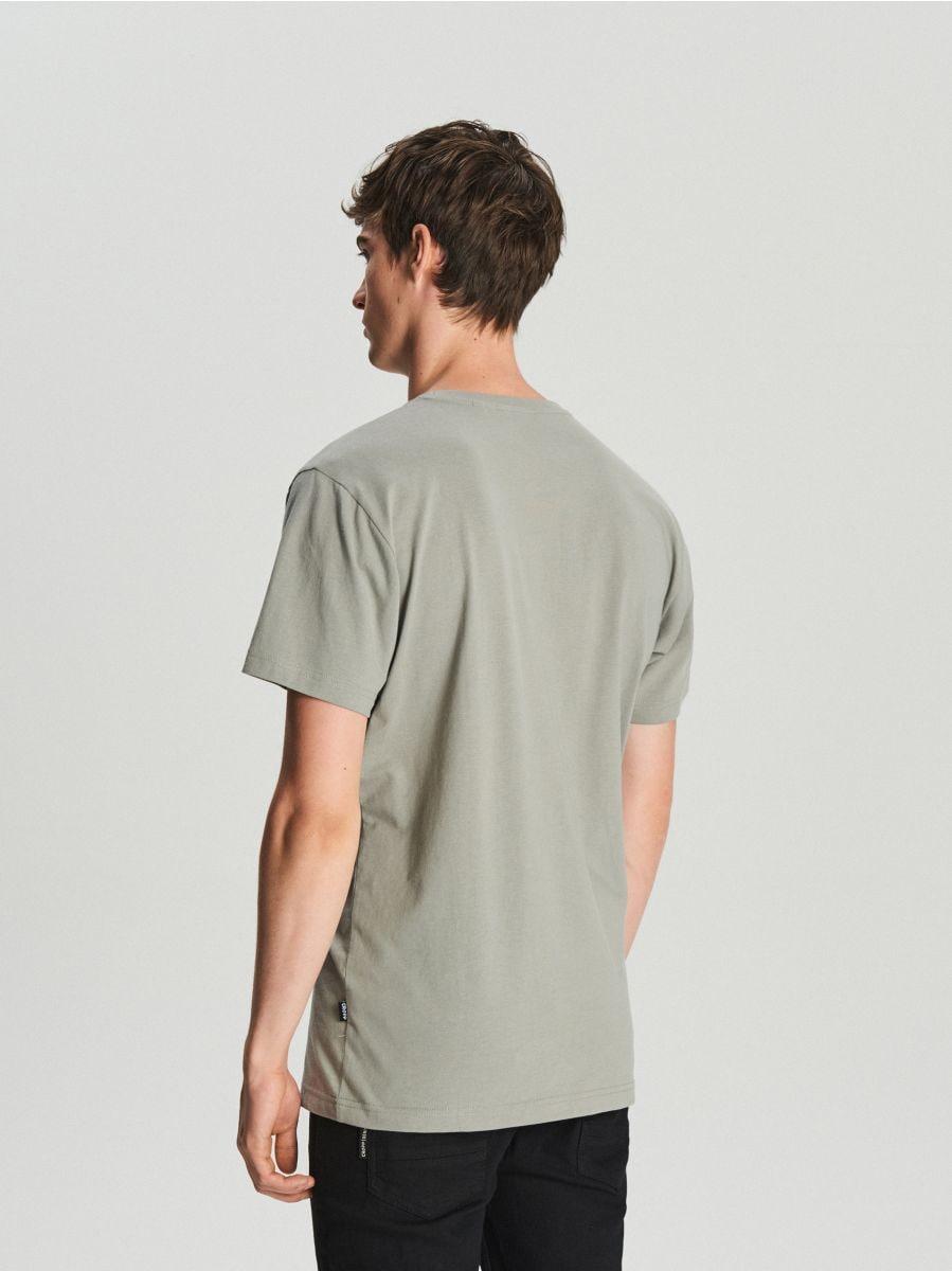 Tricou cu imprimeu - GRI - WV295-90X - Cropp - 3