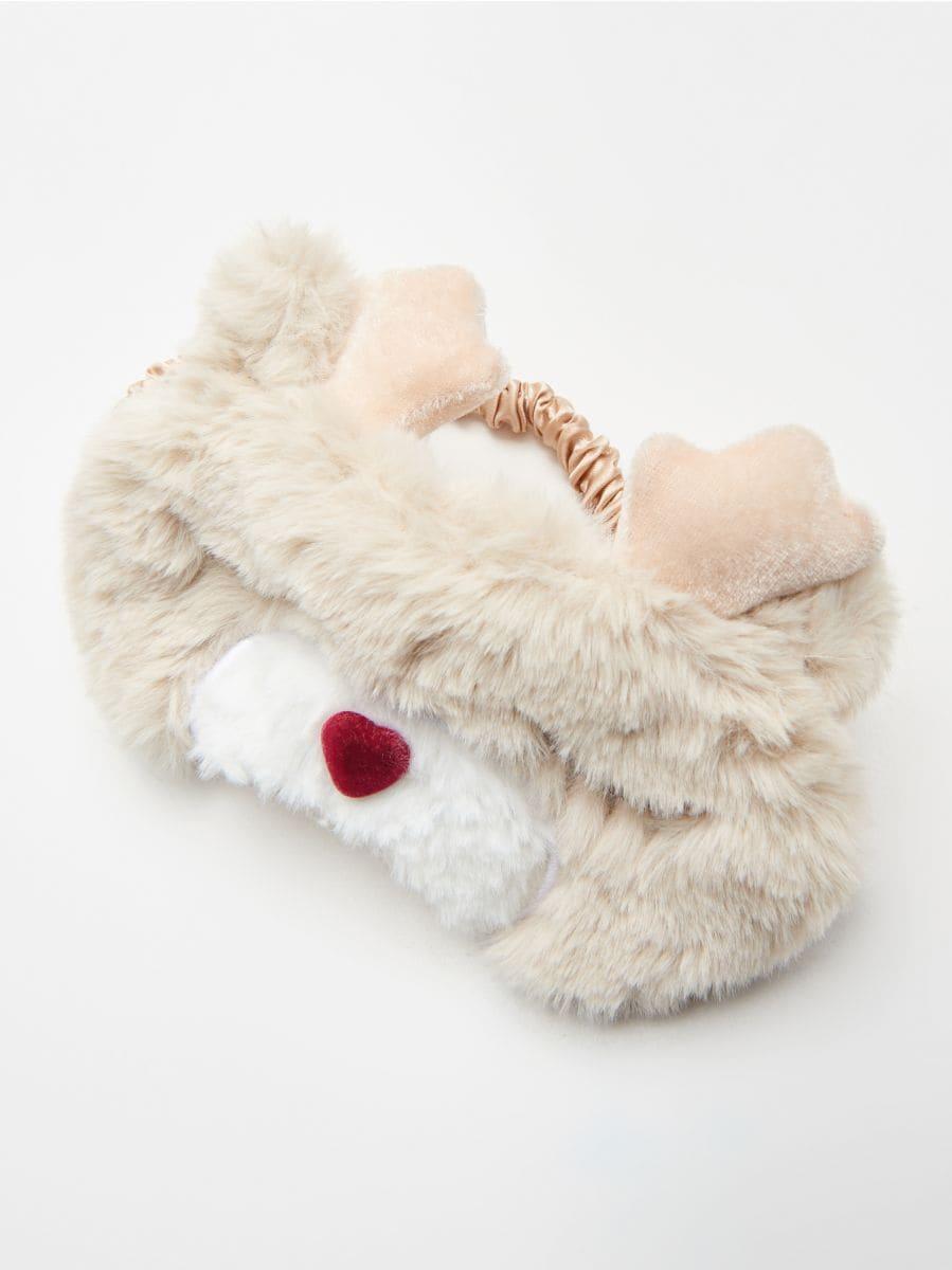 Mască pentru dormit, în ambalaj decorativ  - IVORY - XR455-02X - Cropp - 2