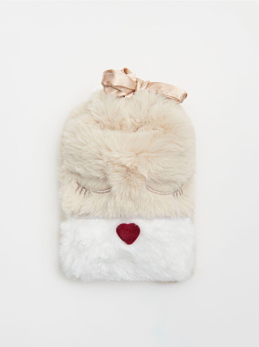 Mască pentru dormit, în ambalaj decorativ  - IVORY - XR455-02X - Cropp - 3