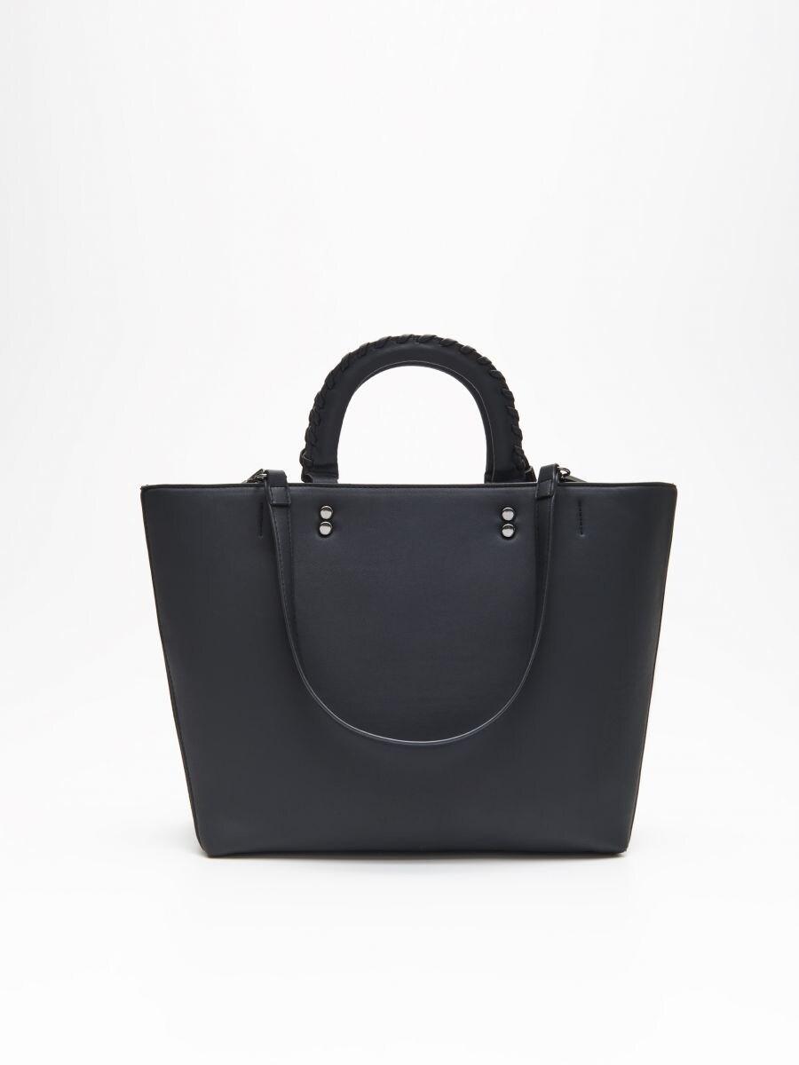 Geantă tip Shopper - NEGRU - UT250-99X - Cropp - 3