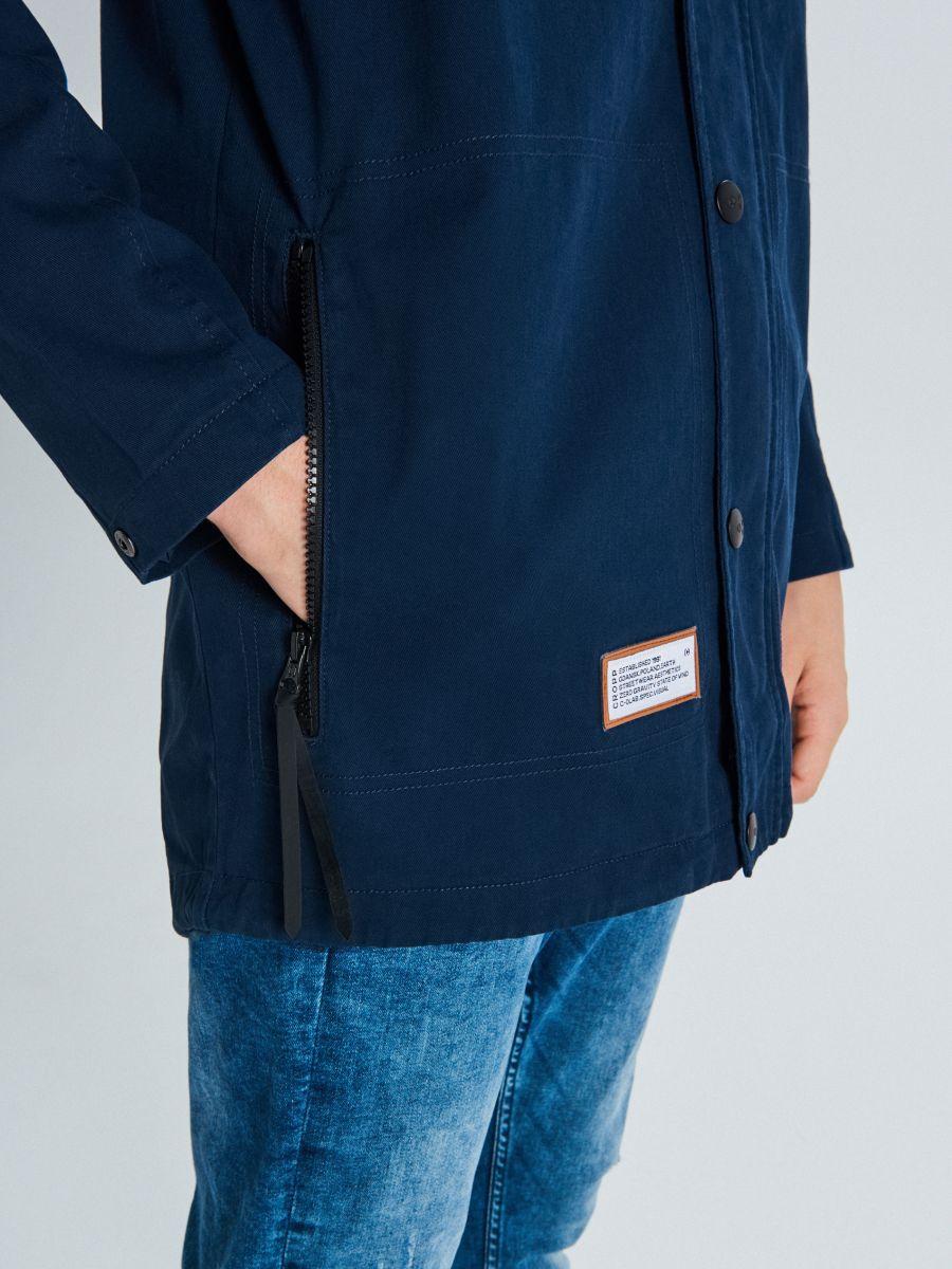 Palton cu glugă - BLEUMARIN - VW252-59X - Cropp - 4