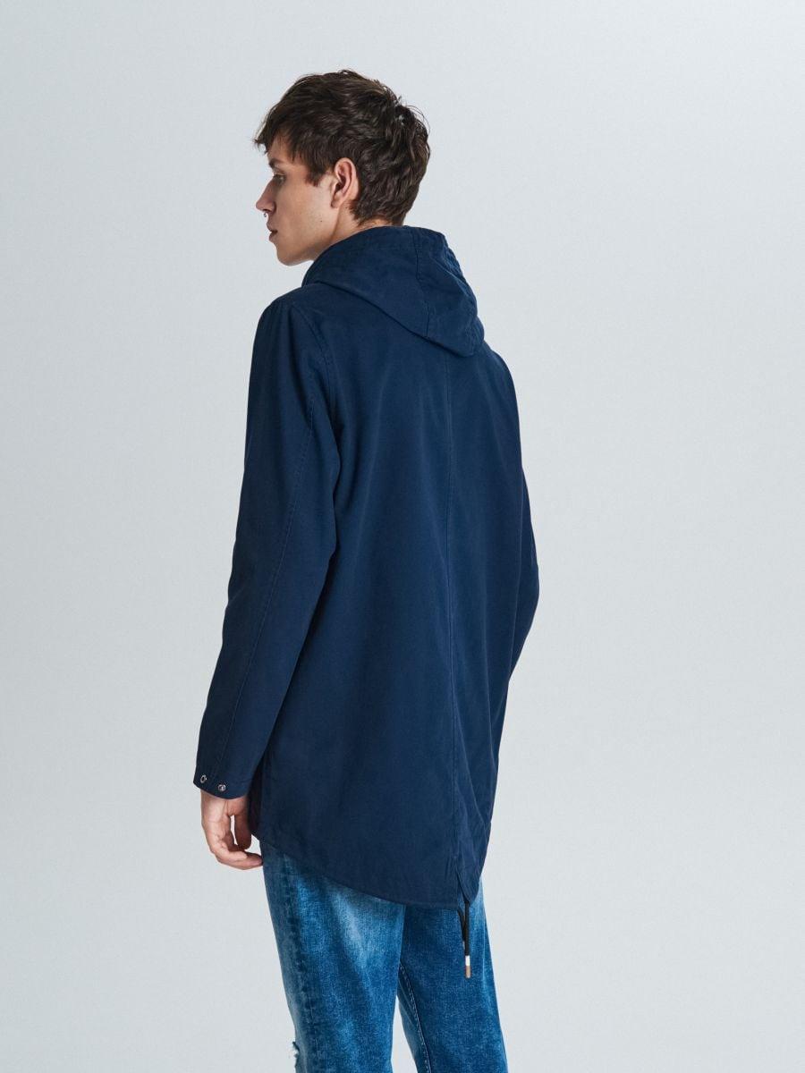 Palton cu glugă - BLEUMARIN - VW252-59X - Cropp - 5