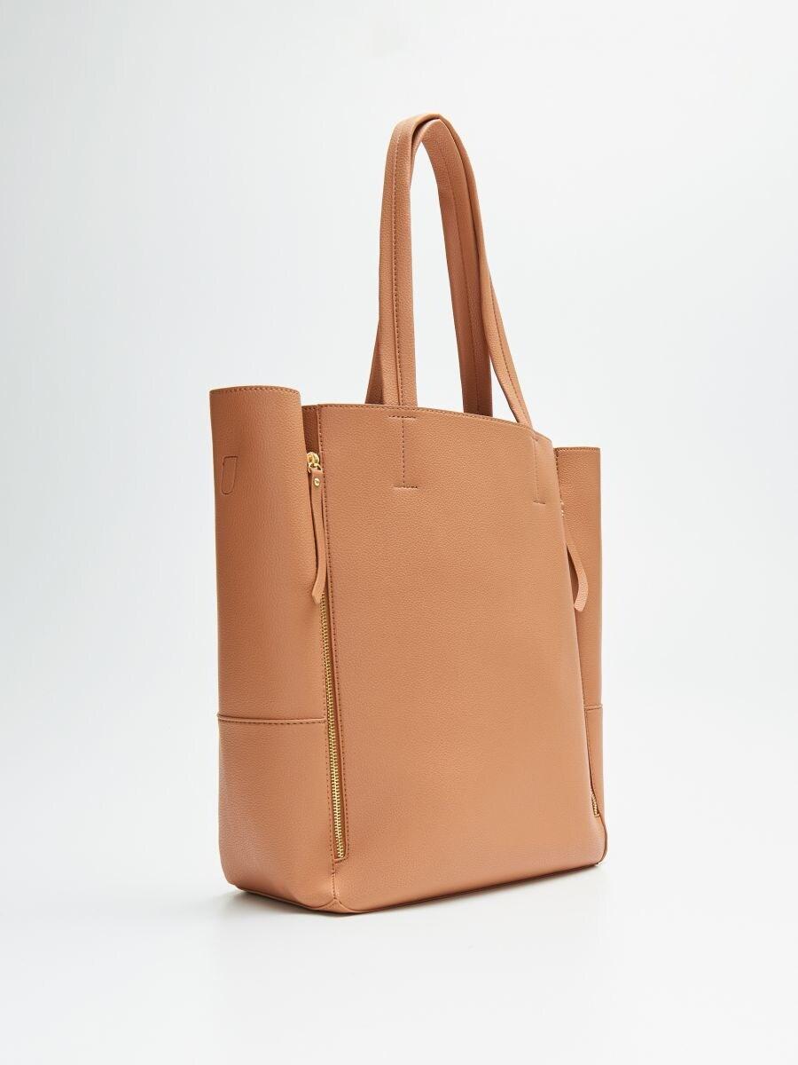 Geantă shopper cu compartiment pentru laptop - BEJ - VY985-08X - Cropp - 2