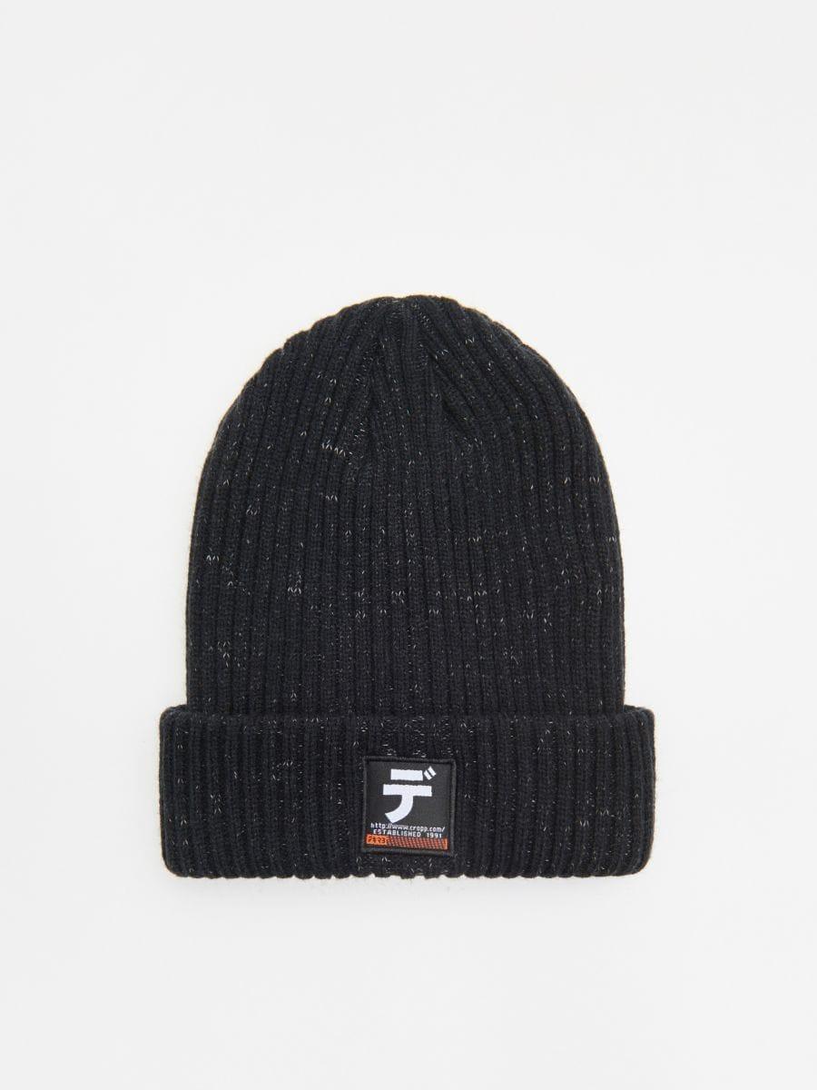 Șapcă cu emblemă - NEGRU - WA006-99X - Cropp - 1