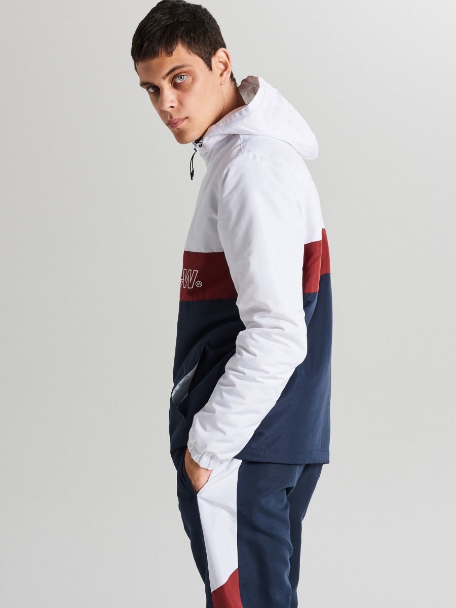Jachetă tip hanorac, cu glugă - BLEUMARIN - WA087-59X - Cropp - 4