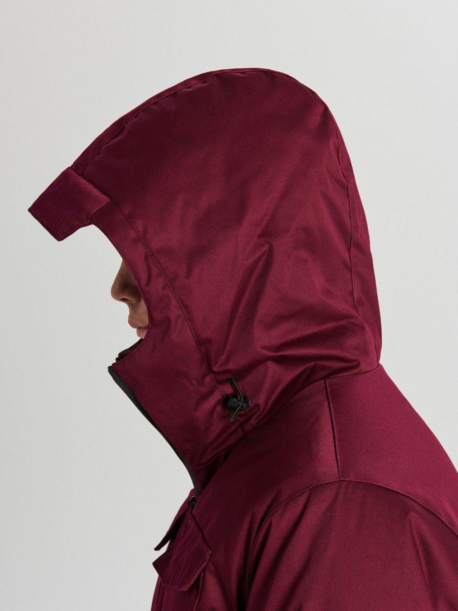 Palton de iarnă cu glugă - BORDO - WC148-83X - Cropp - 6