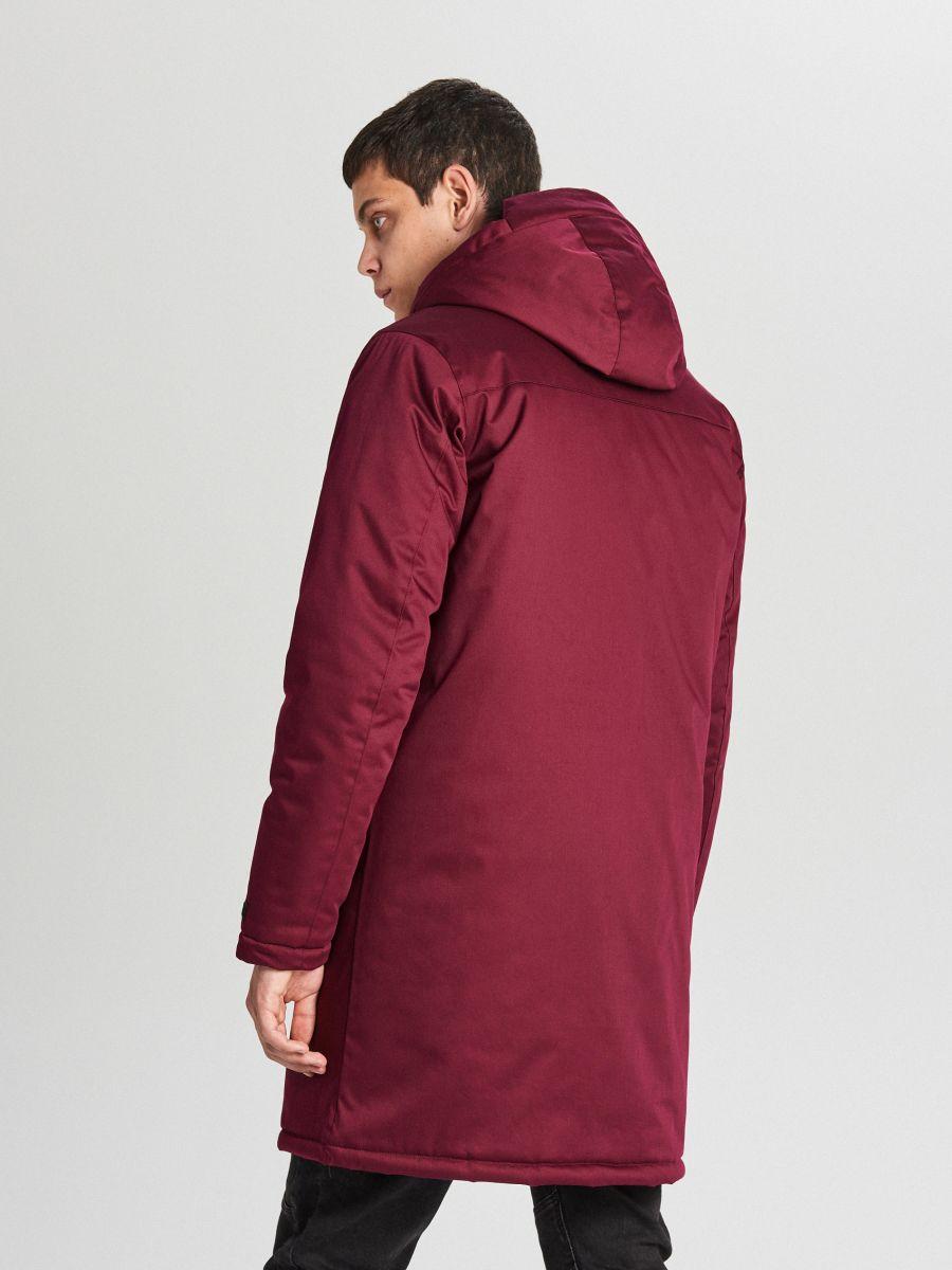 Palton de iarnă cu glugă - BORDO - WC148-83X - Cropp - 8