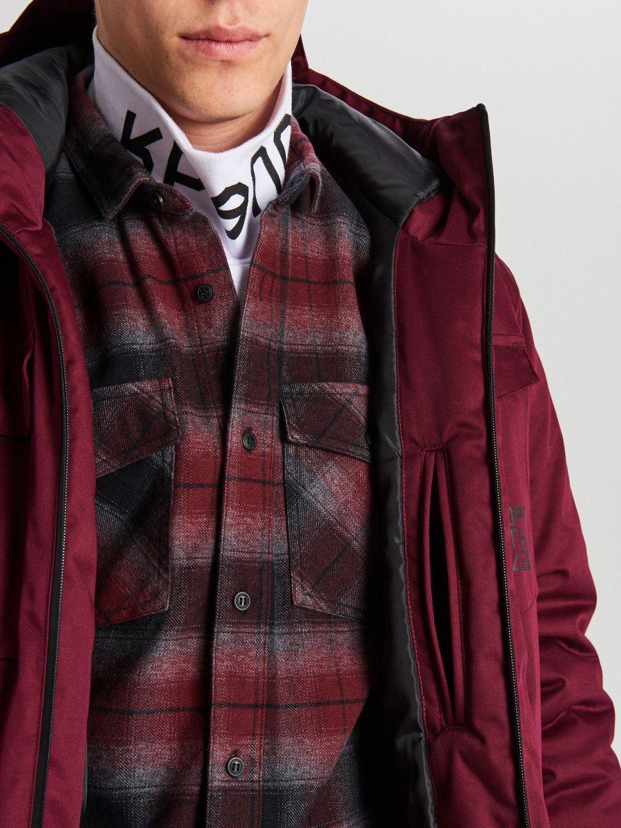 Palton de iarnă cu glugă - BORDO - WC148-83X - Cropp - 9