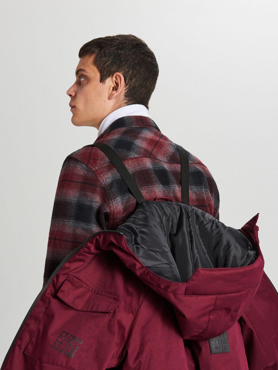 Palton de iarnă cu glugă - BORDO - WC148-83X - Cropp - 10