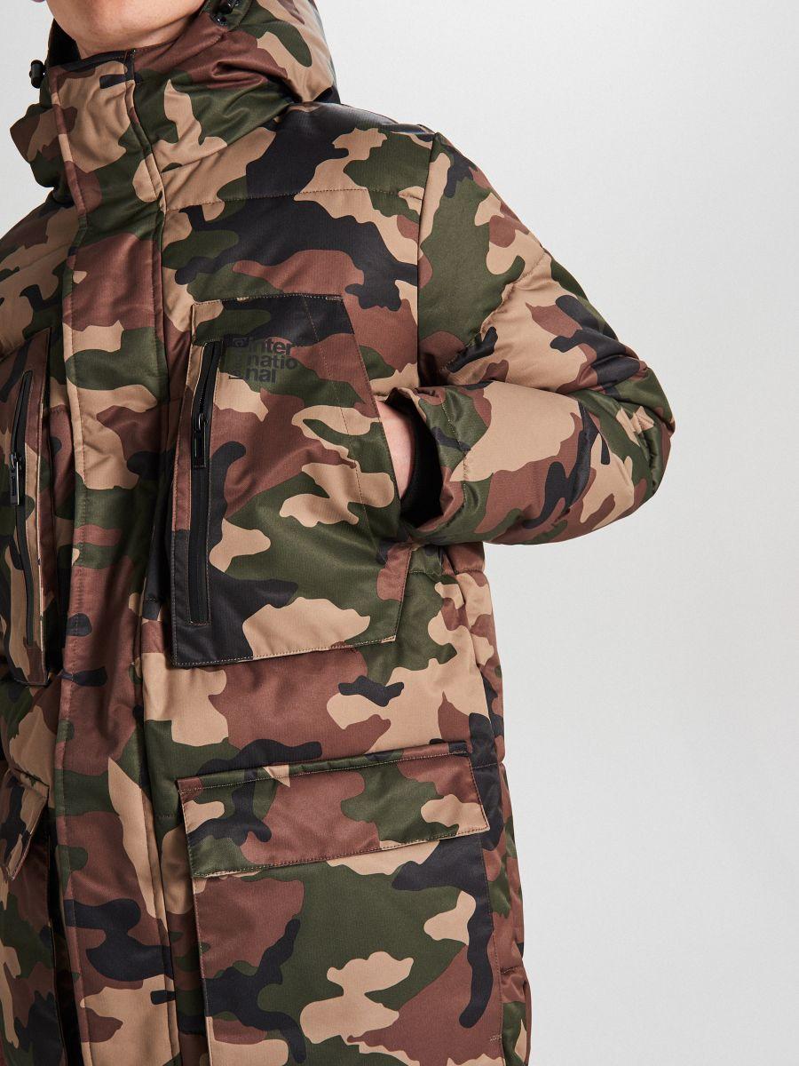 Palton sport cu glugă - KAKI - WC151-87X - Cropp - 5