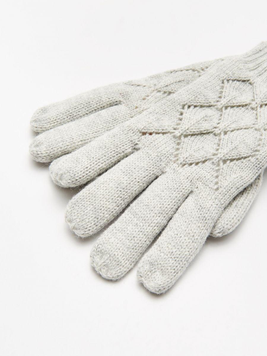 Mănuși cu cinci degete - GRI DESCHIS - WD990-09M - Cropp - 2