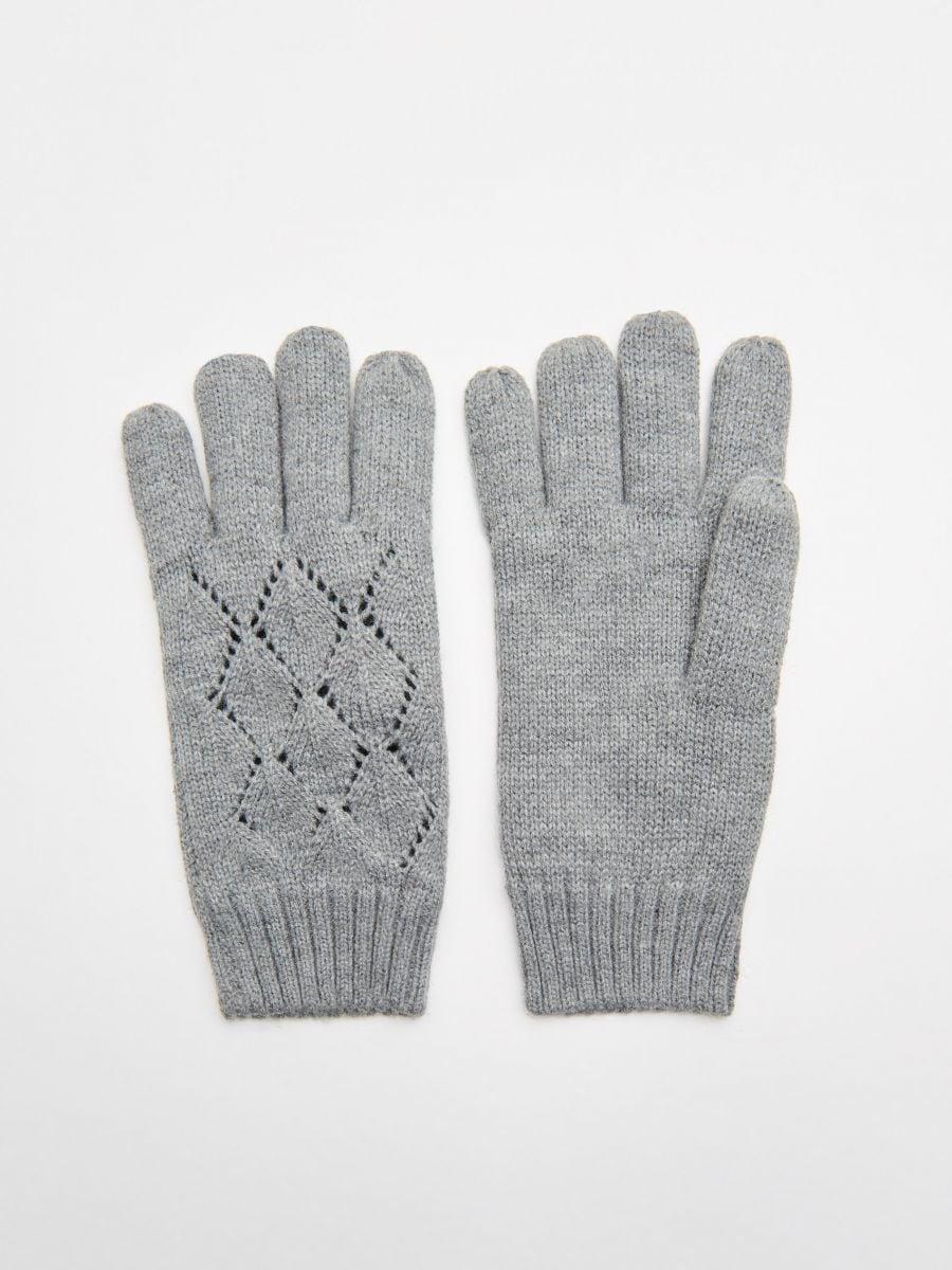 Mănuși cu cinci degete - GRI - WD990-90M - Cropp - 1