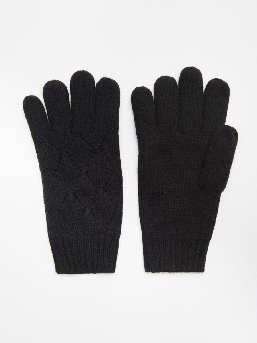 Mănuși cu cinci degete - NEGRU - WD990-99X - Cropp - 1