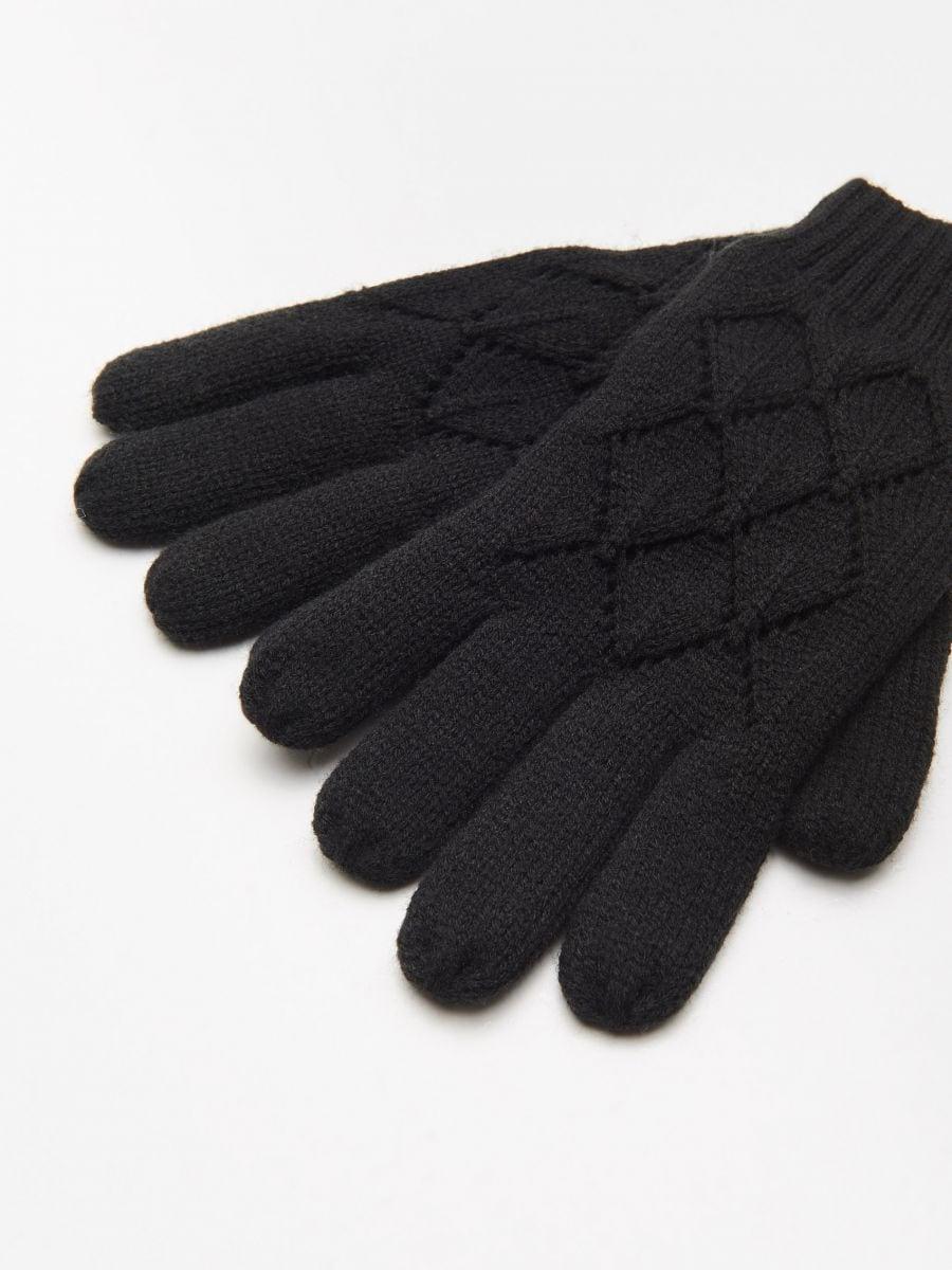 Mănuși cu cinci degete - NEGRU - WD990-99X - Cropp - 2