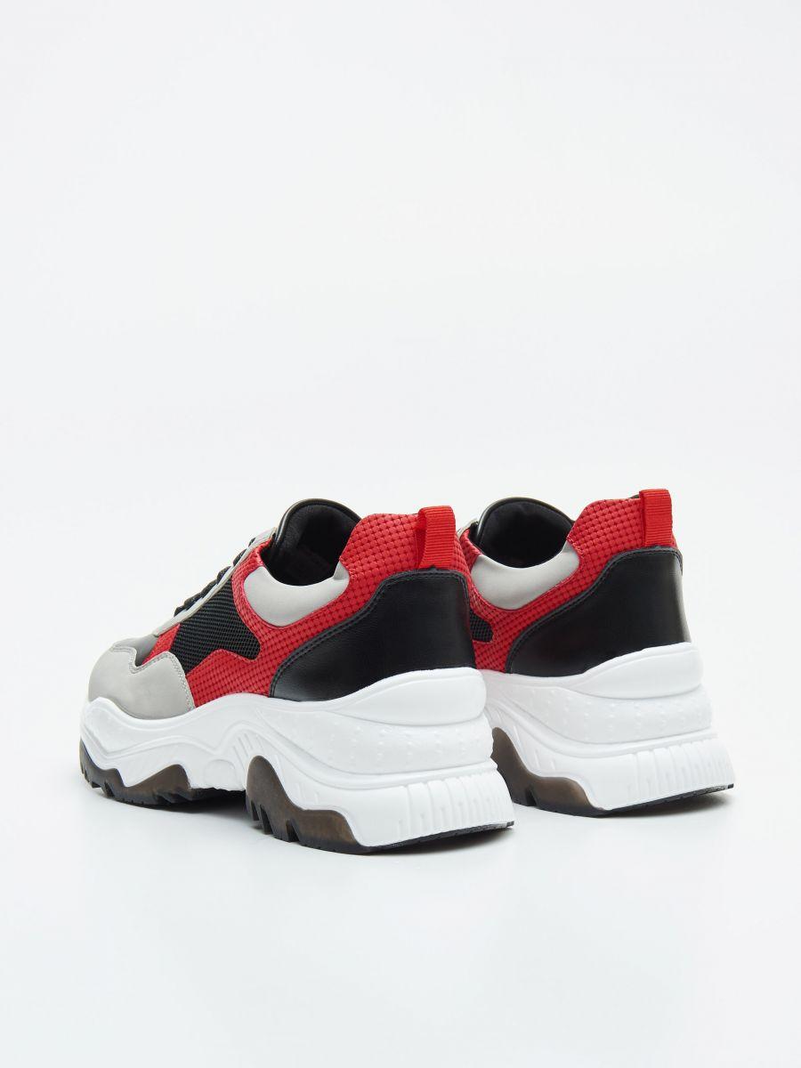 Pantofi sport chunky cu detalii în contrast - ROȘU - WE873-33X - Cropp - 4