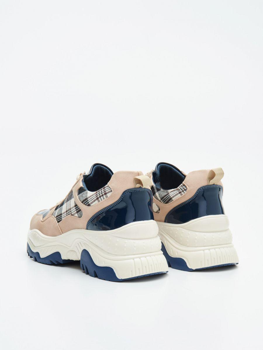 Pantofi sport chunky cu detalii în contrast - ALBASTRU - WE873-55X - Cropp - 4