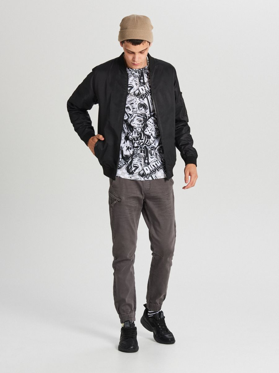 MEN`S TROUSERS - GRI - WH133-90X - Cropp - 1