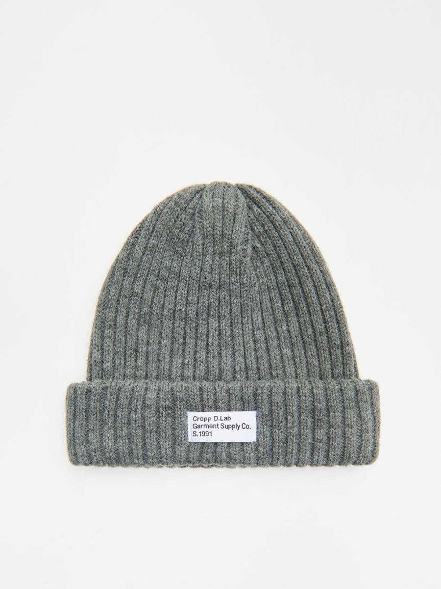Șapcă cu emblemă - GRI - WK511-90X - Cropp - 1