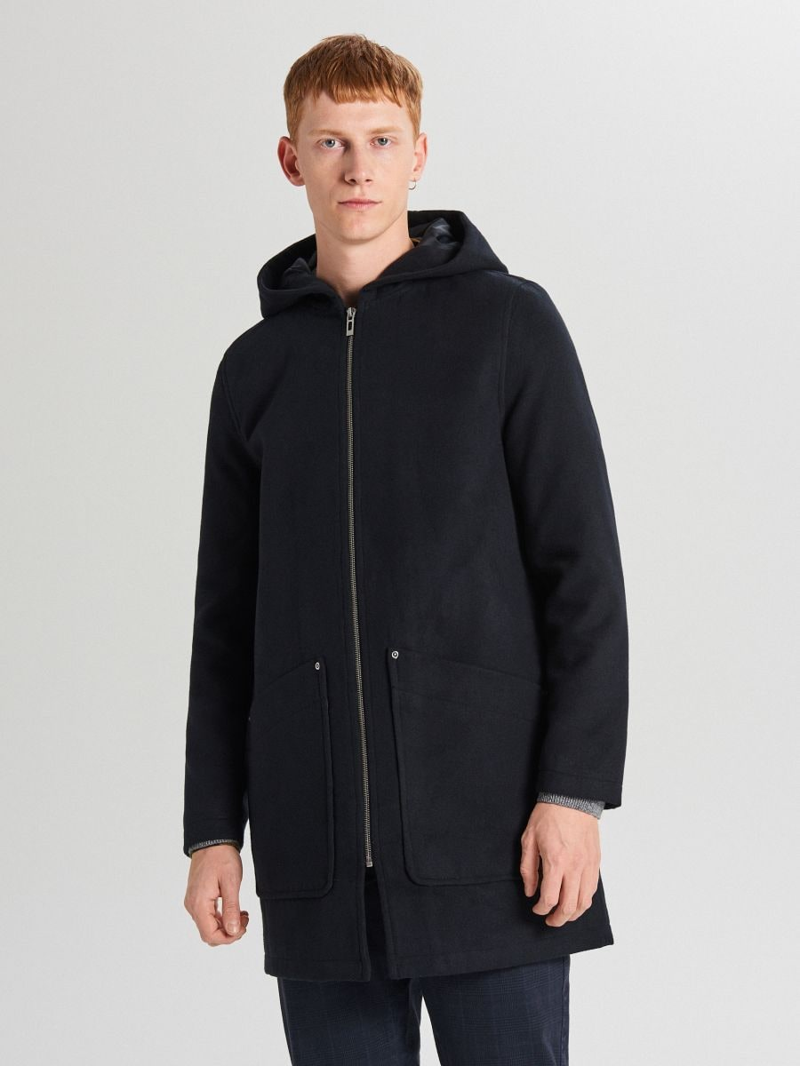 Palton subțire cu glugă - BLEUMARIN - WL843-59X - Cropp - 3
