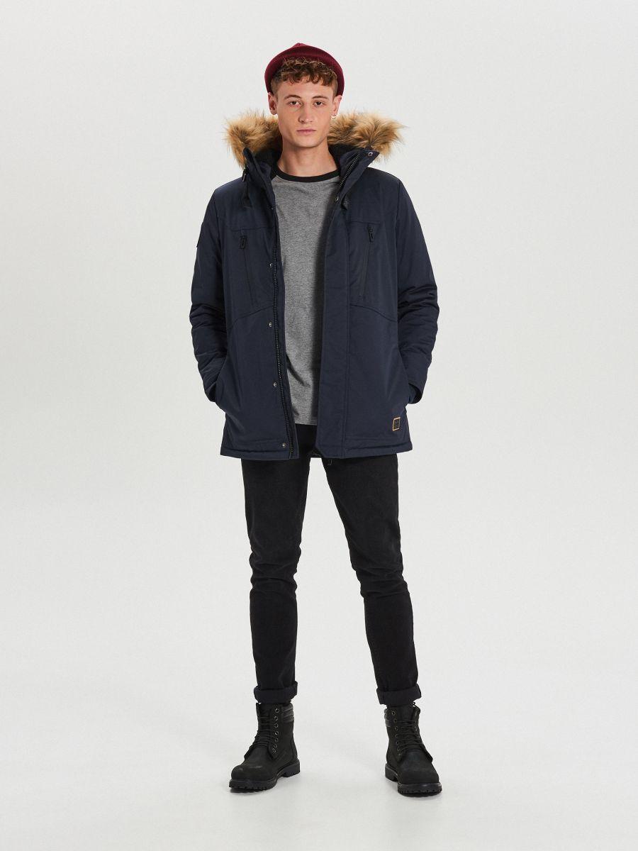 Palton călduros  - BLEUMARIN - WM617-59X - Cropp - 2