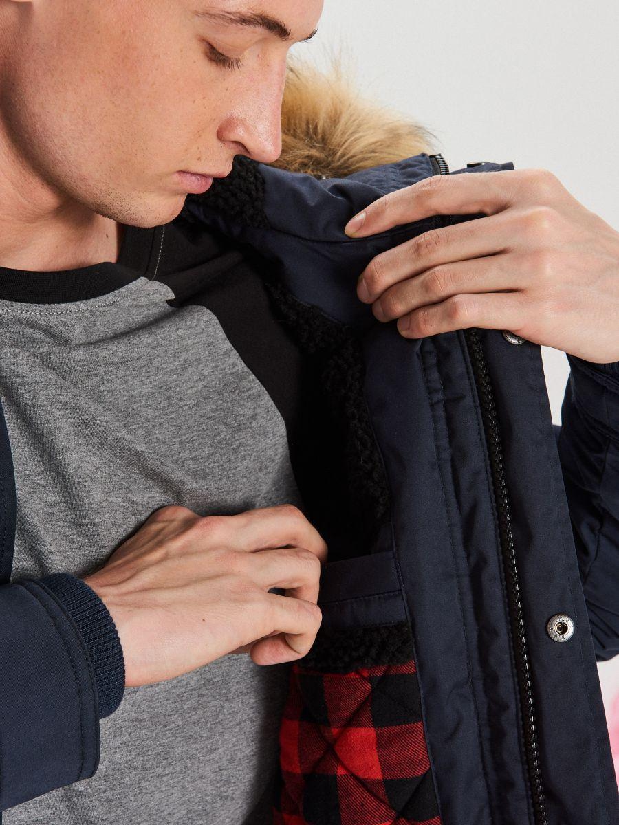 Palton călduros  - BLEUMARIN - WM617-59X - Cropp - 5
