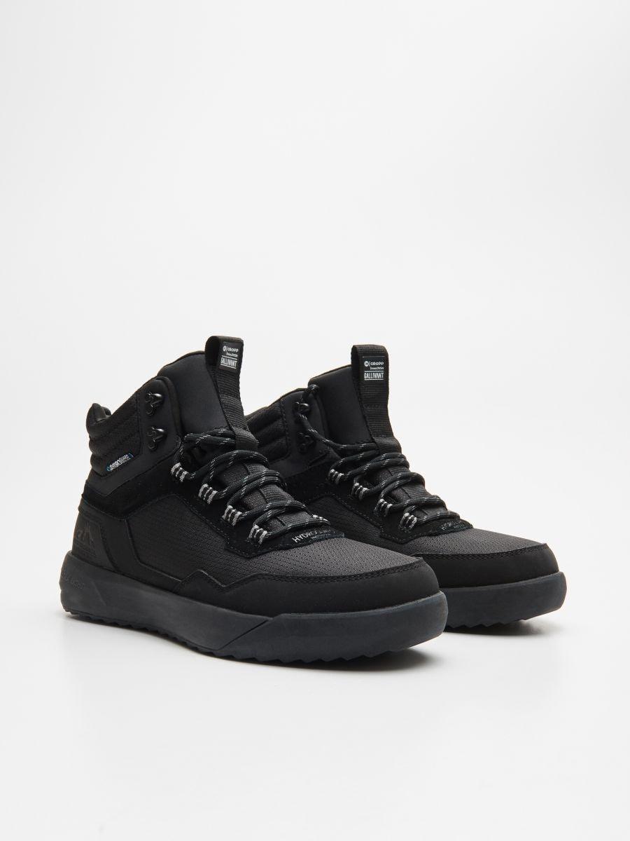 Pantofi sport ușori, cu înveliș impermeabil - NEGRU - WN943-99X - Cropp - 3