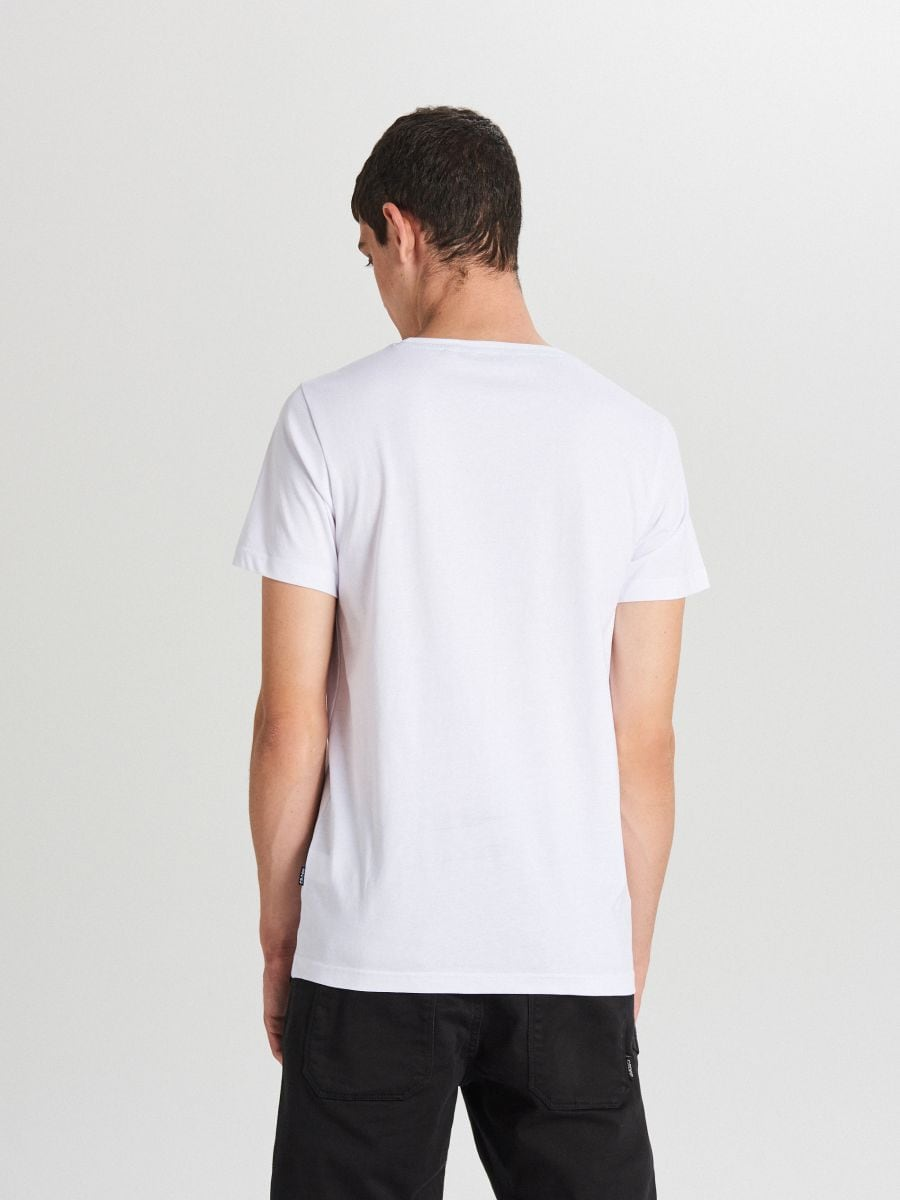 Tricou cu imprimeu - ALB - XB655-00X - Cropp - 3