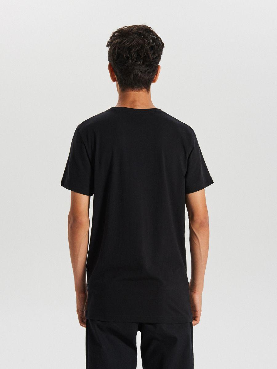 Tricou cu imprimeu - NEGRU - XB656-99X - Cropp - 3