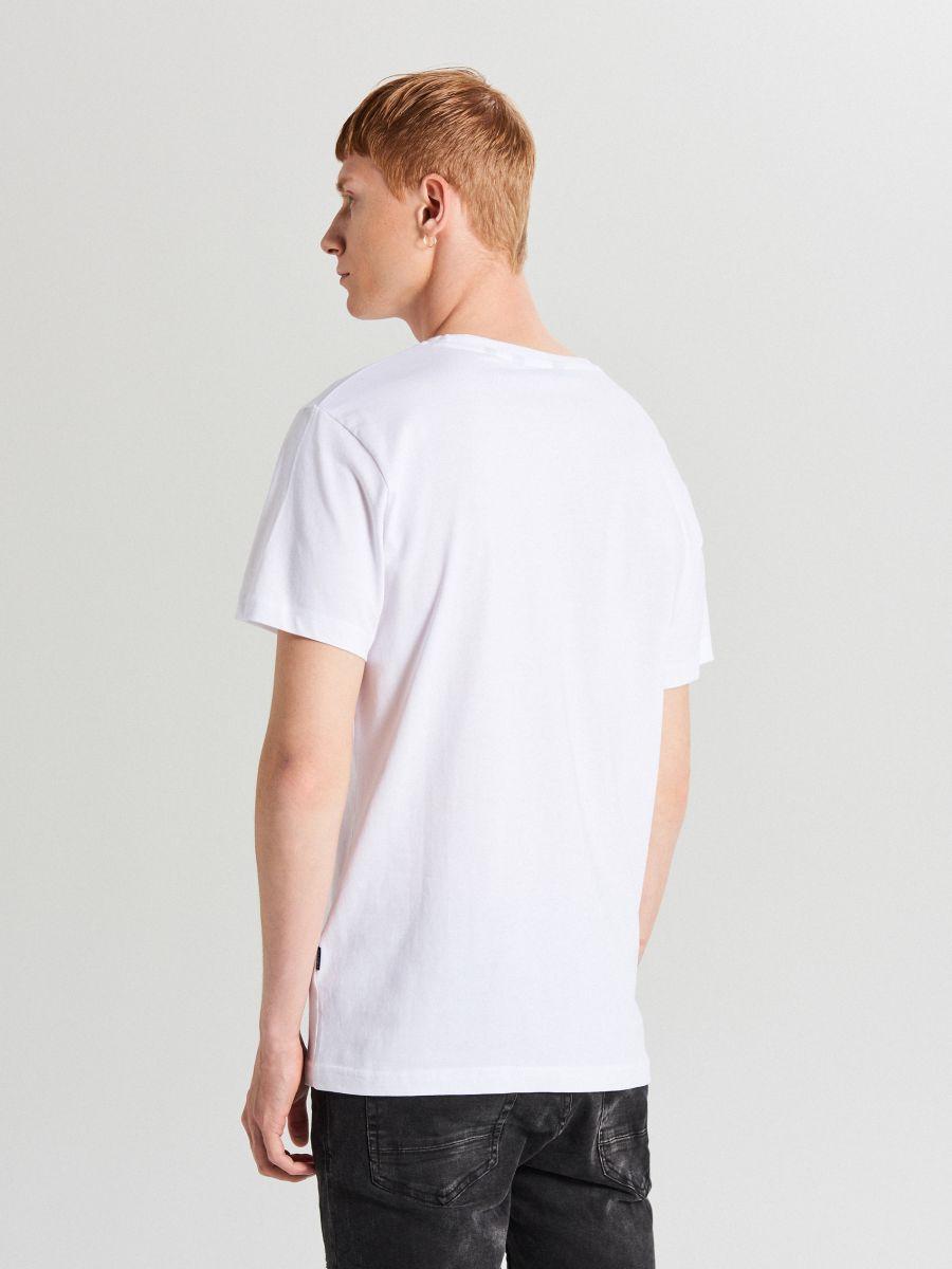 Tricou cu imprimeu - ALB - XB657-00X - Cropp - 3