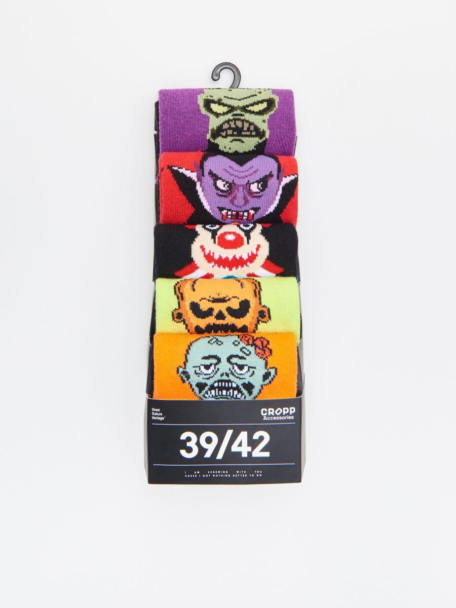 Set de 5 perechi șosete colorate - NEGRU - XD895-99M - Cropp - 2