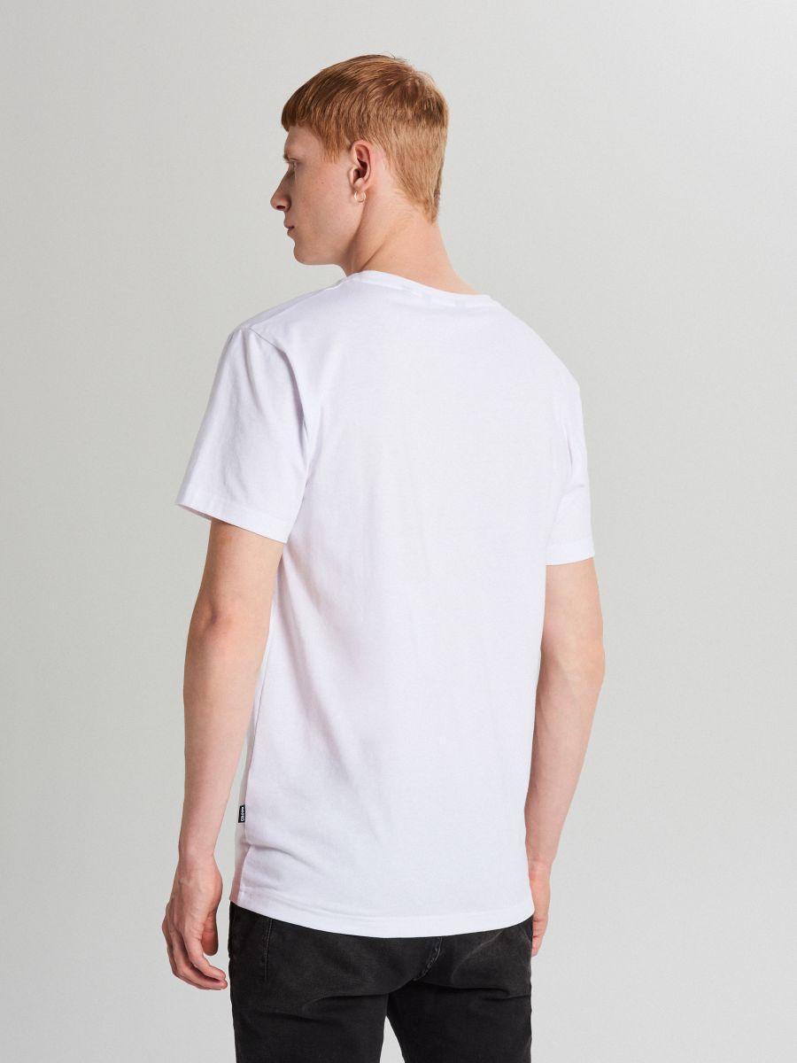 Tricou cu imprimeu - ALB - XG013-00X - Cropp - 4