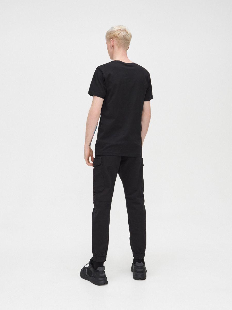 Tricou cu mânecă lungă și text  - NEGRU - XP532-99X - Cropp - 4