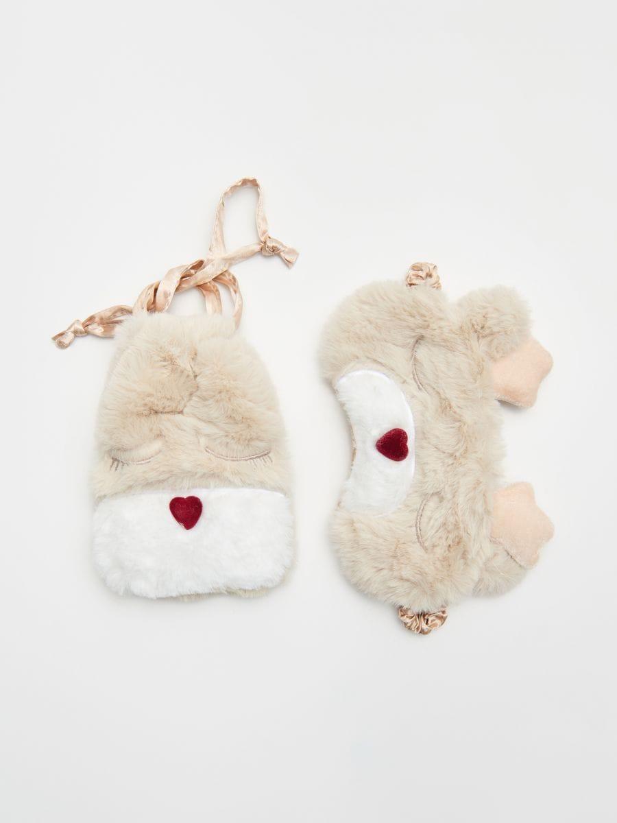 Mască pentru dormit, în ambalaj decorativ  - IVORY - XR455-02X - Cropp - 1