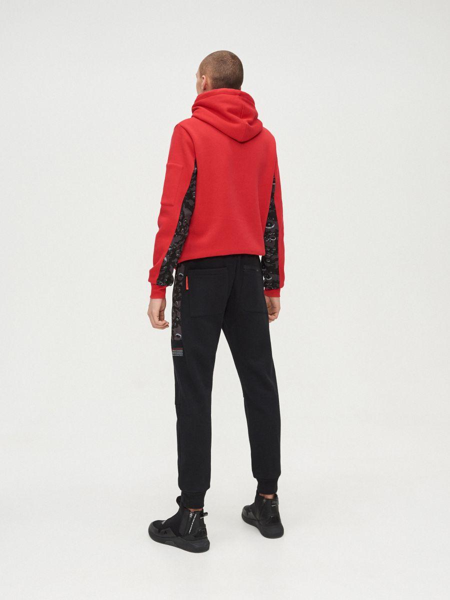 Pantaloni jogger cu imprimeu NASA - NEGRU - XT502-99X - Cropp - 4