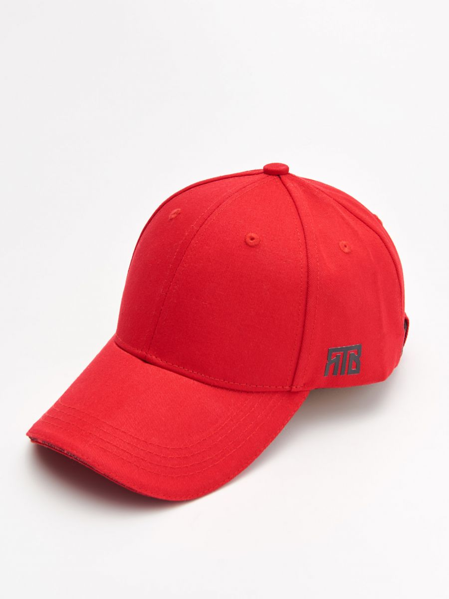 Șapcă cu cozoroc - ROȘU - XW652-33X - Cropp - 1