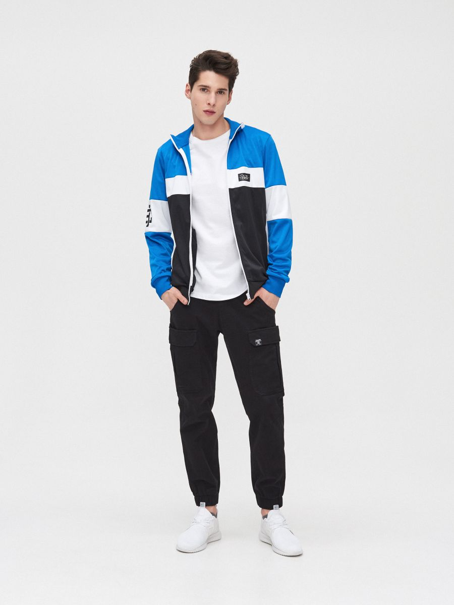 Bluză cu guler înalt - ALB - YB735-00X - Cropp - 1