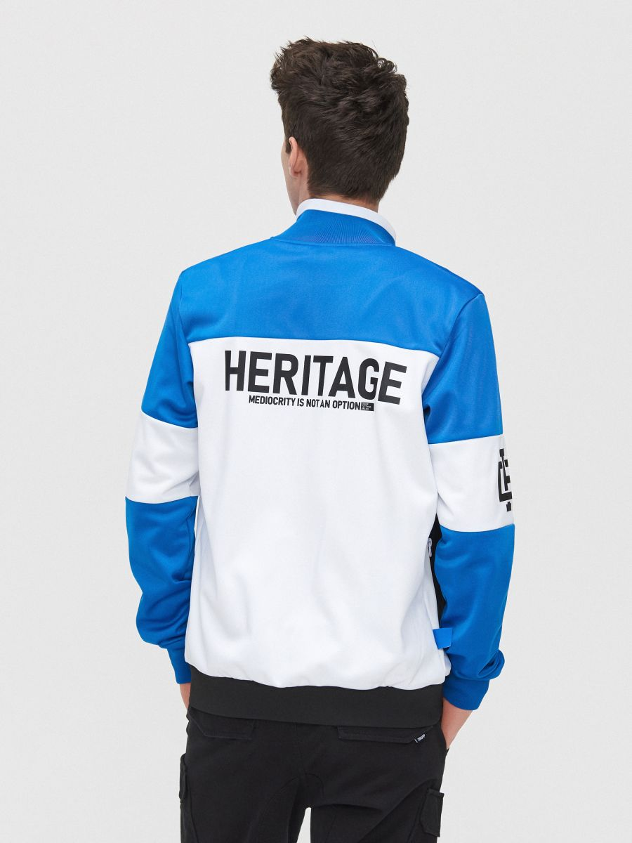 Bluză cu guler înalt - ALB - YB735-00X - Cropp - 2