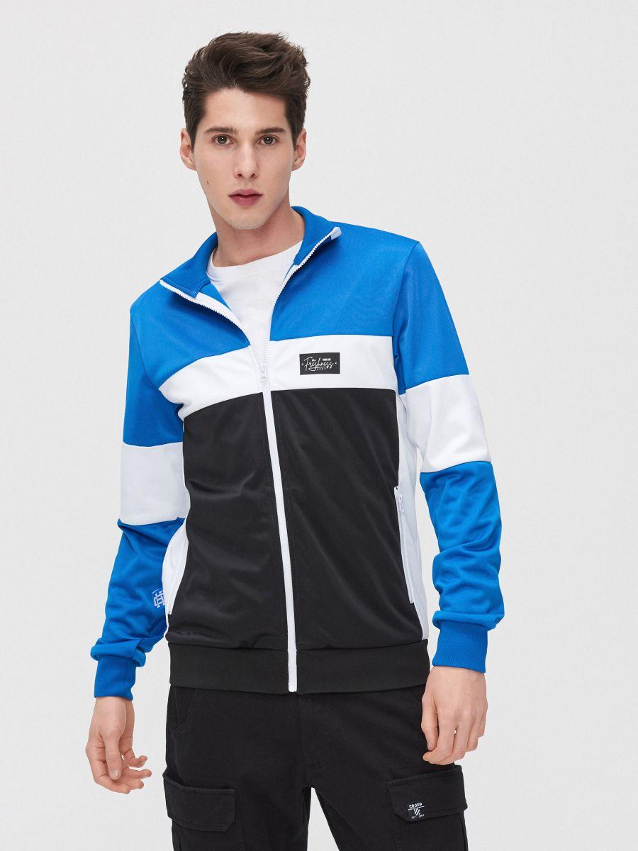 Bluză cu guler înalt - ALB - YB735-00X - Cropp - 3
