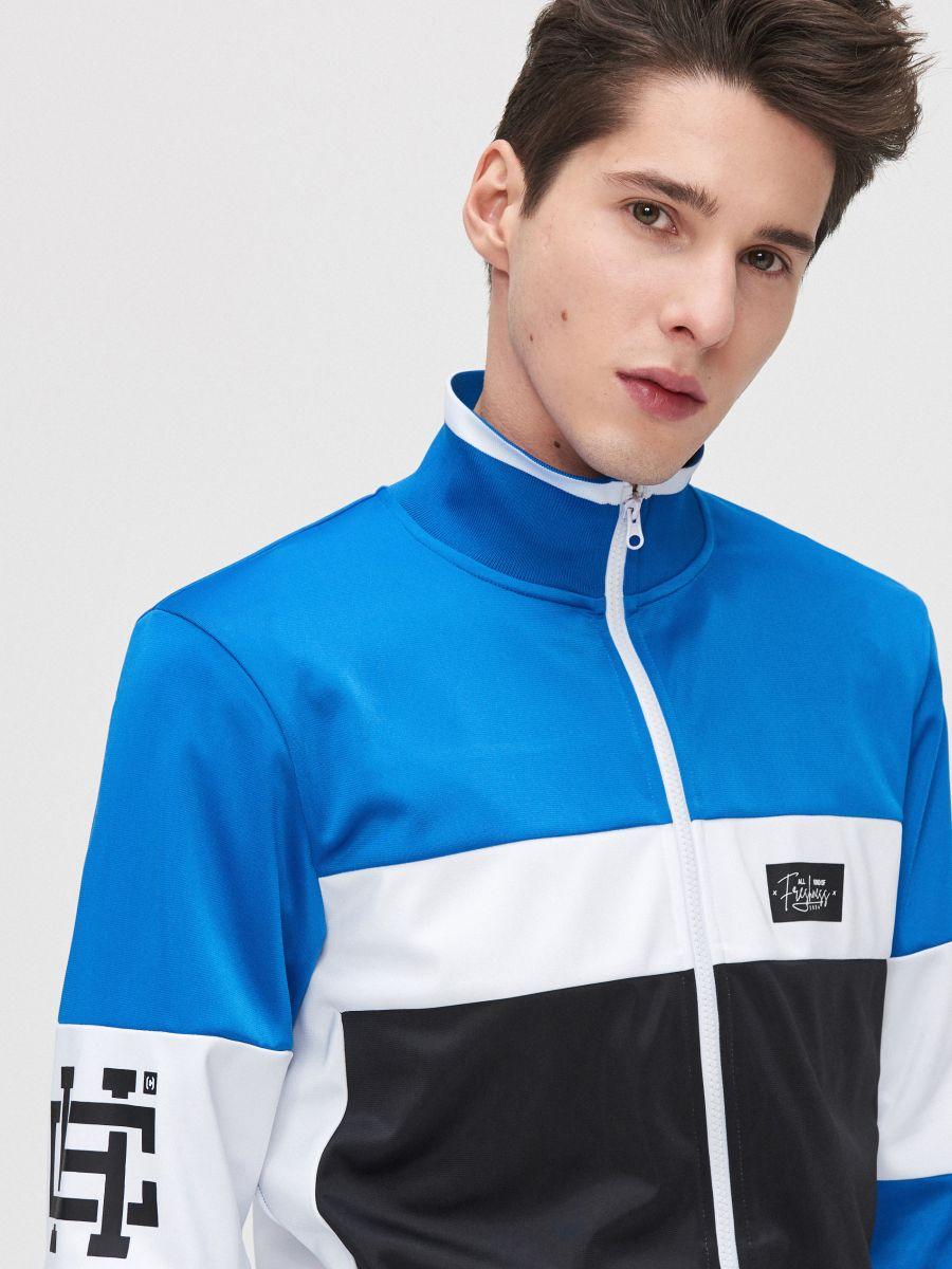 Bluză cu guler înalt - ALB - YB735-00X - Cropp - 4