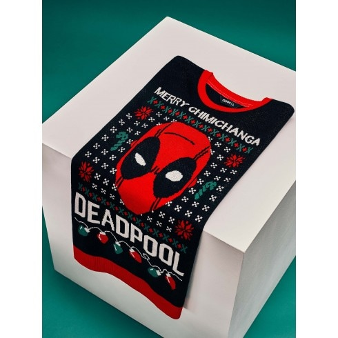 Pulover de Crăciun Deadpool