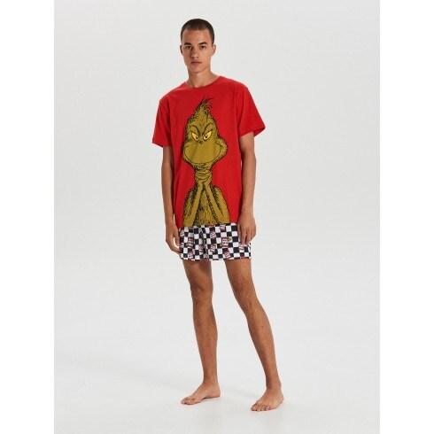 Pijama Grinch cu pantaloni scurți