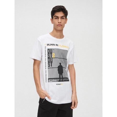 Tricou cu imprimeu fotografic