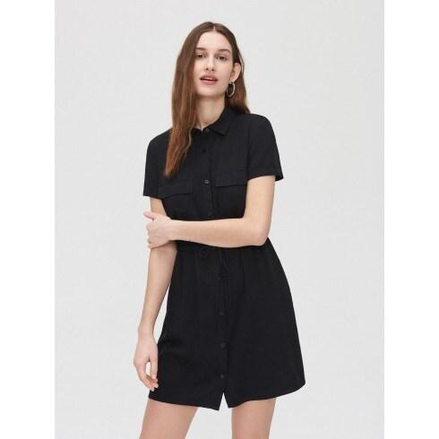 Rochie-cămașă din viscoză