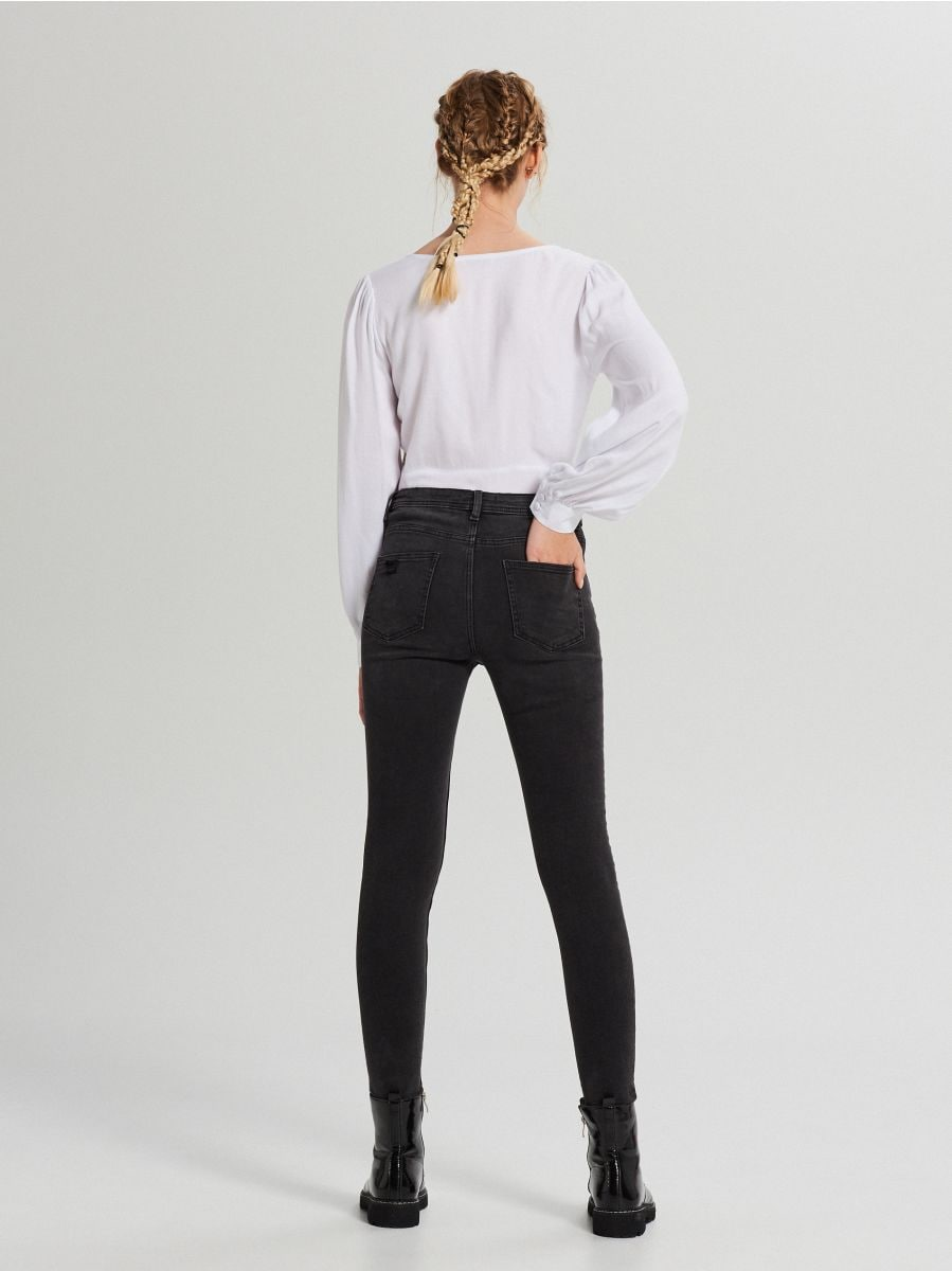 Skinny mid waist farmer - FEKETE - WC912-99J - Cropp - 3